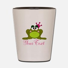 Personalizable Pink and Green Frog Shot Glass