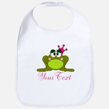 Personalizable Pink and Green Frog Bib