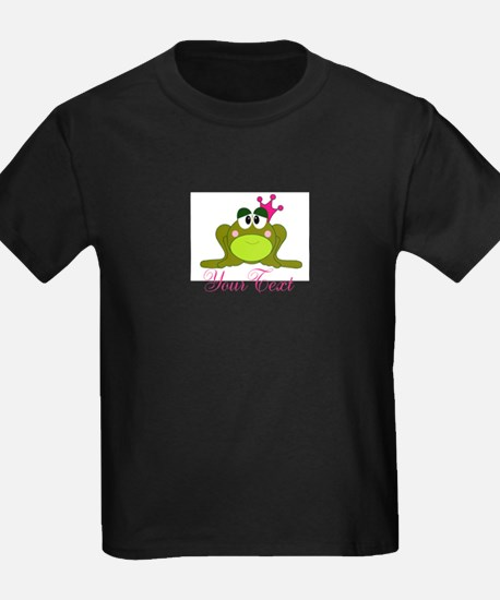 Personalizable Pink and Green Frog T-Shirt