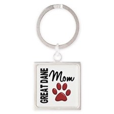 Great Dane Mom 2 Square Keychain