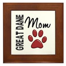 Great Dane Mom 2 Framed Tile