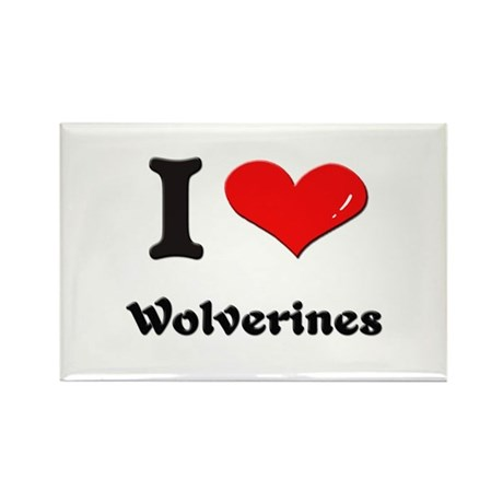 I love wolverines Rectangle Magnet