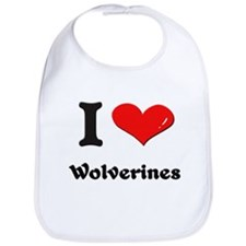 I love wolverines  Bib