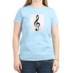 Treble Clef Women's Pink T-Shirt