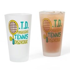 Funny Tennis Drinking Glass