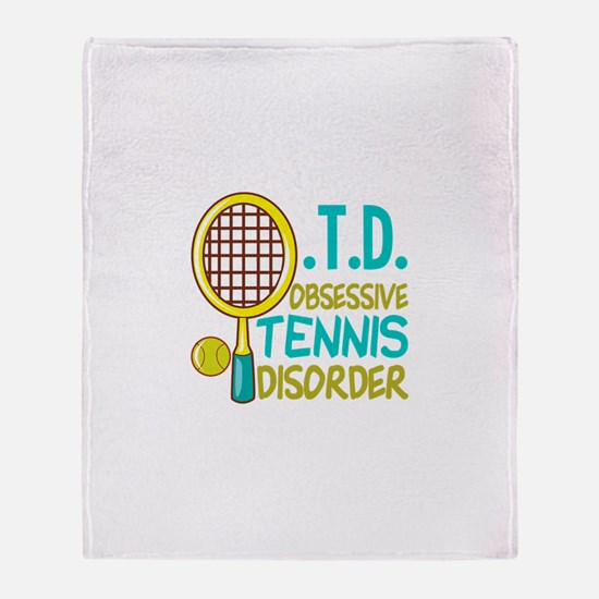 Funny Tennis Throw Blanket