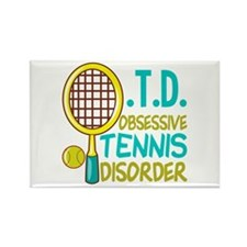 Funny Tennis Rectangle Magnet