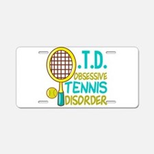 Funny Tennis Aluminum License Plate