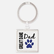 Great Dane Dad 2 Square Keychain