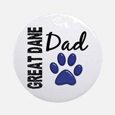 Great Dane Dad 2 Ornament (Round)