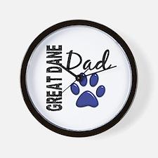 Great Dane Dad 2 Wall Clock