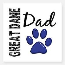 "Great Dane Dad 2 Square Car Magnet 3"" x 3"""
