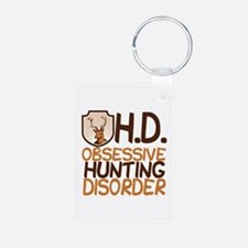 Funny Hunting Aluminum Photo Keychain