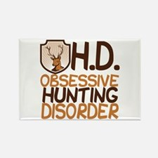 Funny Hunting Rectangle Magnet
