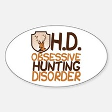 Funny Hunting Sticker (Oval)