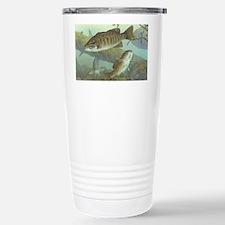 underwater bass fishing Stainless Steel Travel Mug