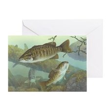 underwater bass fishing Greeting Card