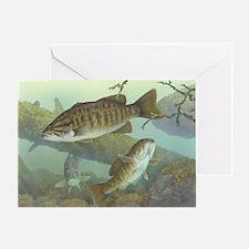 underwater bass fishing Greeting Card