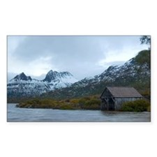 cradle mountain and boatshed Decal