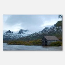 cradle mountain and boatshed Sticker (Rectangle)