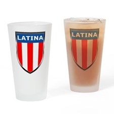 Latina Shield Drinking Glass