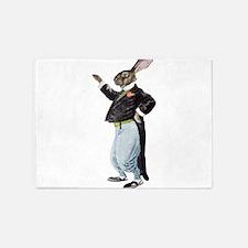 Vintage Rabbit 5'x7'Area Rug