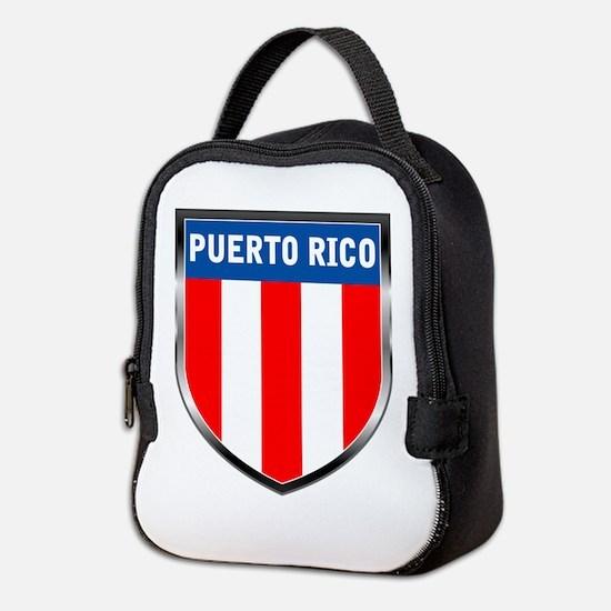 Puerto Rico Shield Neoprene Lunch Bag
