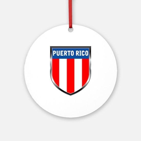 Puerto Rico Shield Ornament (Round)