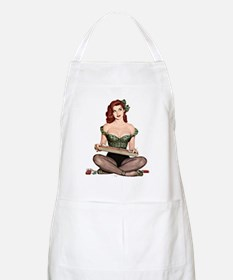 Red Head Waitress Pin Up Girl Apron