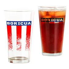 Boricua Vertical Flag Drinking Glass