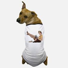 Librarian Student Pin Up Girl Dog T-Shirt