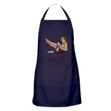 Librarian Student Pin Up Girl Apron (dark)