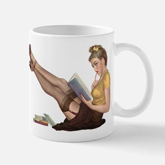 Librarian Student Pin Up Girl Mugs