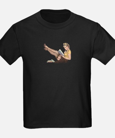 Librarian Student Pin Up Girl T-Shirt