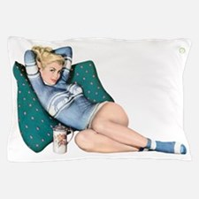 Cabin Cottage Mountain Chic Pin Up Girl Pillow Cas