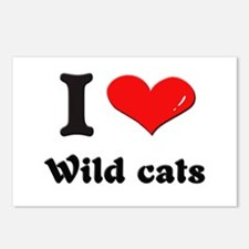 I love wild cats  Postcards (Package of 8)