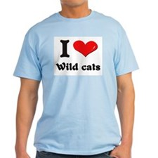 I love wild cats T-Shirt