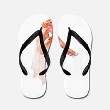 Lingerie Elegant Blonde Pin Up Girl Flip Flops
