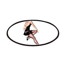 Little Black Dress Red Head Pin Up Girl Patches