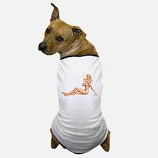 Summer Swimsuit Blonde Pin Up Girl Dog T-Shirt