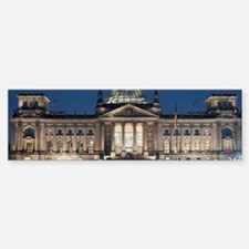 Reichstag building floodlit at ni Bumper Bumper Sticker