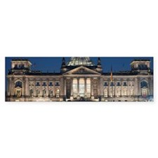 Reichstag building floodlit at ni Bumper Sticker