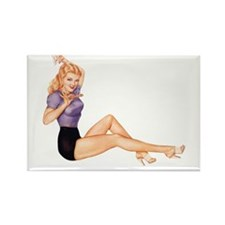 Harmonious Blonde Pin Up Girl Magnets