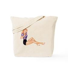 Harmonious Blonde Pin Up Girl Tote Bag