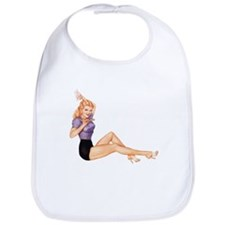 Harmonious Blonde Pin Up Girl Bib