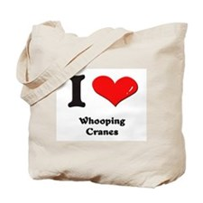 I love whooping cranes Tote Bag