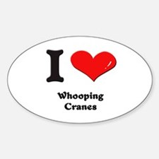I love whooping cranes Oval Decal