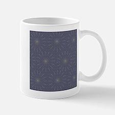 Blue Sparkle Fireworks Pattern Mugs