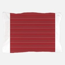 Red Sewing Stitches Stripes Pattern Pillow Case