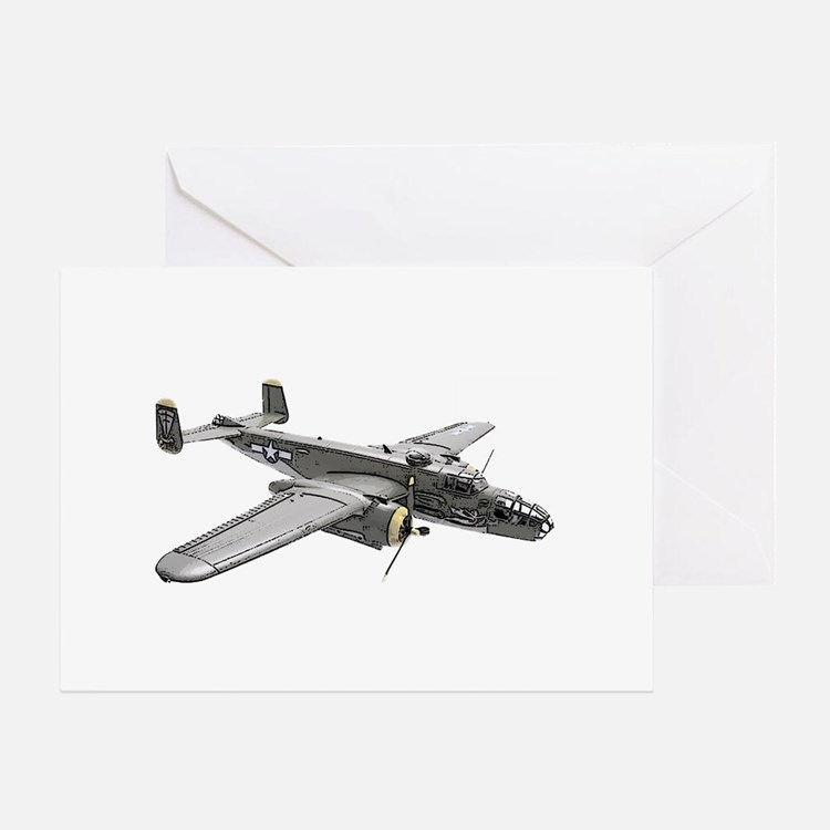 B-25 Bomber Greeting Card